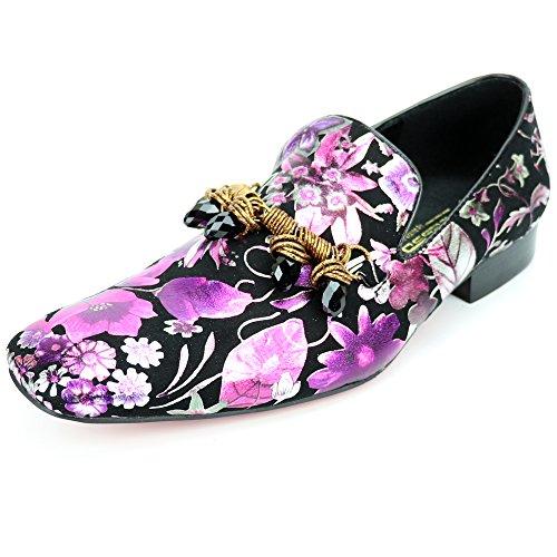 Fiesso by Aurelio Garcia FI-7255 Black Multi Color Slip on Loafer - European Shoe Designs