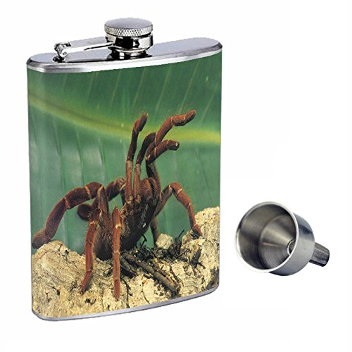Spiders Perfection inスタイル8オンスステンレススチールWhiskey Flask with Free Funnel d-007   B0181MCRKE