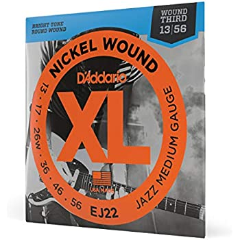 D/'Addario Guitar Strings  Half Rounds  3 Pack  EHR360   Jazz Medium