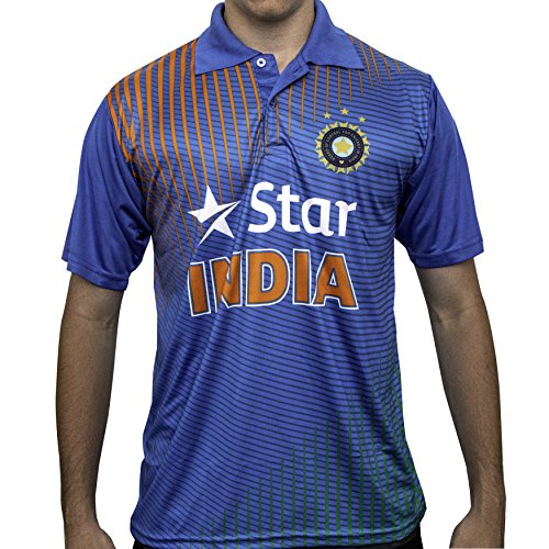 (Pro Impact Star India Cricket Men's T-Shirt - Moisture Wicking Mens Polo Shirt - Star India Team Support & Represent - for Teens & Adults)
