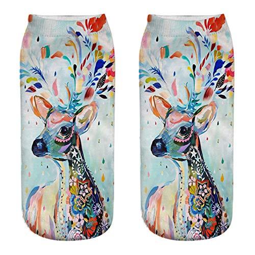 Mydufish Christmas Socks Women 3D Socks New Year Gift Kawaii Calcetines Femme Girls Cute -