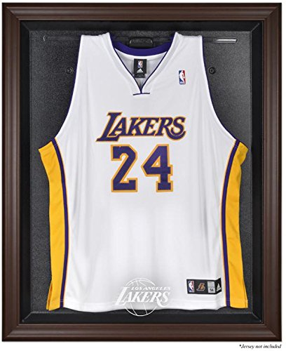 Browns Logo Display Case - Sports Memorabilia Los Angeles Lakers Brown Framed Jersey Display Case - Basketball Jersey Logo Display Cases