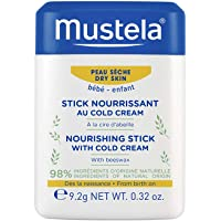 Mustela Baby Nourishing Stick - Lip & Face Moisturizer for Dry Skin - with Natural Avocado, Cold Cream & Beeswax - 0.32…