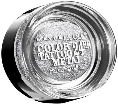 Maybelline Color Tattoo Metal 24hr Eyeshadow - Silver Strike (Pack of 2)