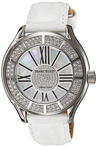 Marc Ecko Men's E15507G1 The Tiani White Leather Strap Watch