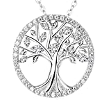 The Tree of Life Necklace Sterling Silver Created Diamond Valentine's Day Jewelry Gift For Her