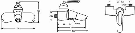 Ideal Standard A3711AA Miscelatore Esterno Vasca Serie Ceramix Life Cromo