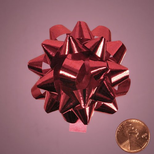 Metallic Red Confetti Bow, 2-1/2