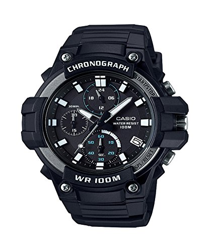 Casio Men's MCW-110H-1AVCF Heavy Duty Analog-Digital Display Quartz Black Watch