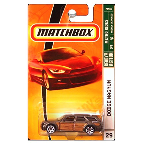 Matchbox Metro Rides Grey Gray with Wood Dodge Magnum 1:64 Scale