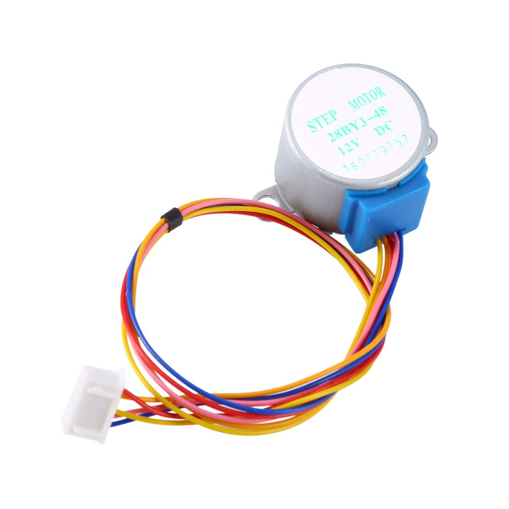 ULN2003 12V Stepper Motor,5-Wire Cable 4-Phase Valve Gear Stepper Motor,for Arduino DIY Project