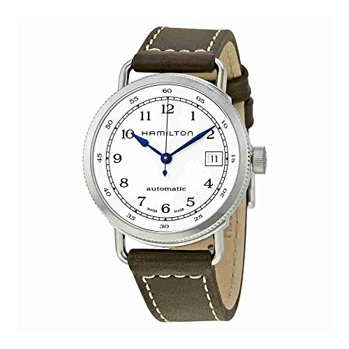 Hamilton Khaki Silver Dial Leather Strap Automatic Ladies Watch H78215553