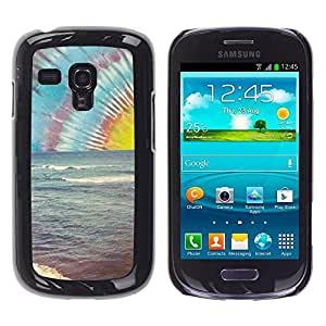 Be Good Phone Accessory // Dura Cáscara cubierta Protectora Caso Carcasa Funda de Protección para Samsung Galaxy S3 MINI NOT REGULAR! I8190 I8190N // Lsd Hippie Drugs Shrooms Beach