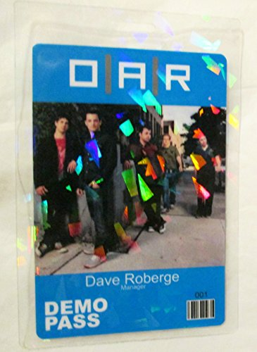 Laminated Oar - OAR O.A.R Hologram Flake Laminated Backstage Pass