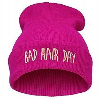 Dxnona® Bad Hair Day Warm Beanie Knit Hat (pink)