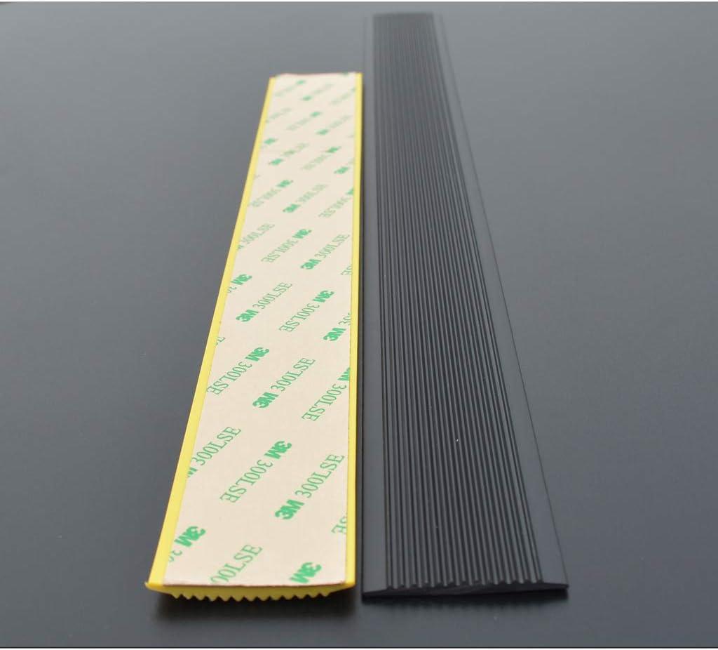 Perfil de Borde de Escalera Antideslizante Perfil para Cantos PVC Escaleras de jardín de Infancia Tira Antideslizante Madera Autoadhesiva Pasos de Piso Tiras de Cierre de Borde de presión de Goma: Amazon.es: