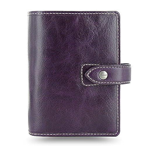 6316a6370436 hot sale Filofax Malden Leather Pocket Purple Organizer Agenda Diary ...