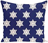 E by design PHGN318BL20-20 Holy Stars, Decorative Holiday Geometric Print Pillow, Blue