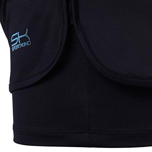 Sportkind Mädchen & Damen Tennis / Volleyball / Sport 2-in-1 Shorts mit Innenhose, schwarz, Gr. 128