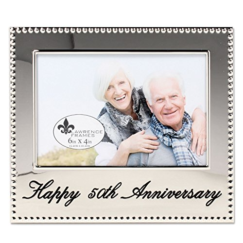 Lawrence Frames 290164 4x6 Happy 50th Anniversary Picture Frame