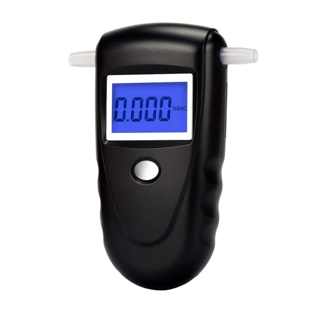 Coolker Professional Digital Breathalyzer, Portable Breath Alcohol Tester with 10 Mouthpieces