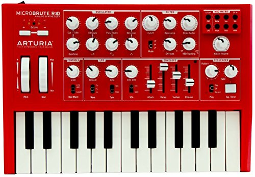 (Arturia MicroBrute SE Analog Synthesizer RED + Analog Lab 2 software