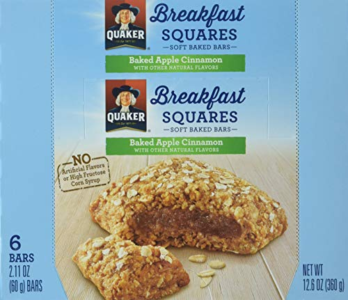 Quaker Breakfast Squares, Apple Cinnamon, 48 Count (Pack of 8)