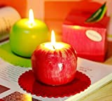 Joinwin Red Scented Apple Candles Artificial Apple Shape Scented Fruit Candles Creative Romantic Christmas Gift Candles Very Good Home / Party Decorations,Great for Christmas Gift