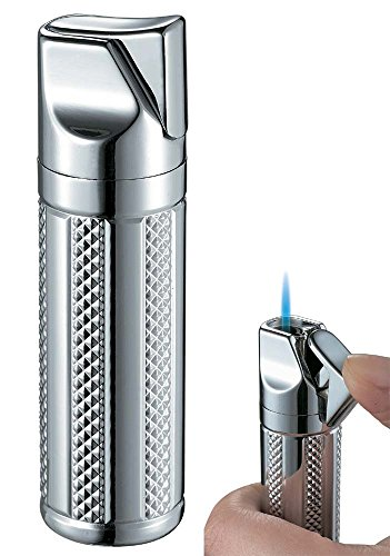 (Visol Tornado Polished Chrome Single Jet Flame Cigar Lighter)
