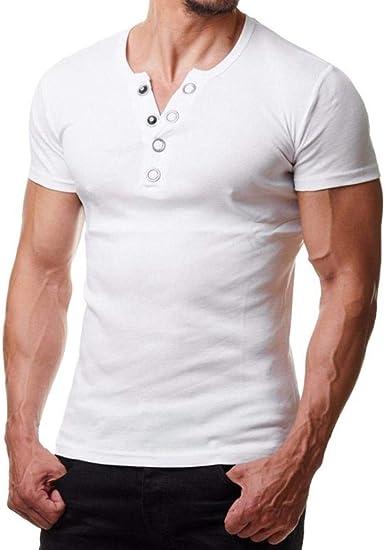 Camisa De Manga Corta para Hombres Colores De 6 Camisa Botones para Chic Ropa Hombre De Moda Mostrar Camisa De Jersey Muscular Camisa De Deporte Sólido Top: Amazon.es: Ropa y accesorios