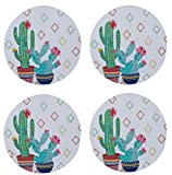 Cactus Garden Southwest Flair Braided Placemats Kitchen or Dining Room Set of 4