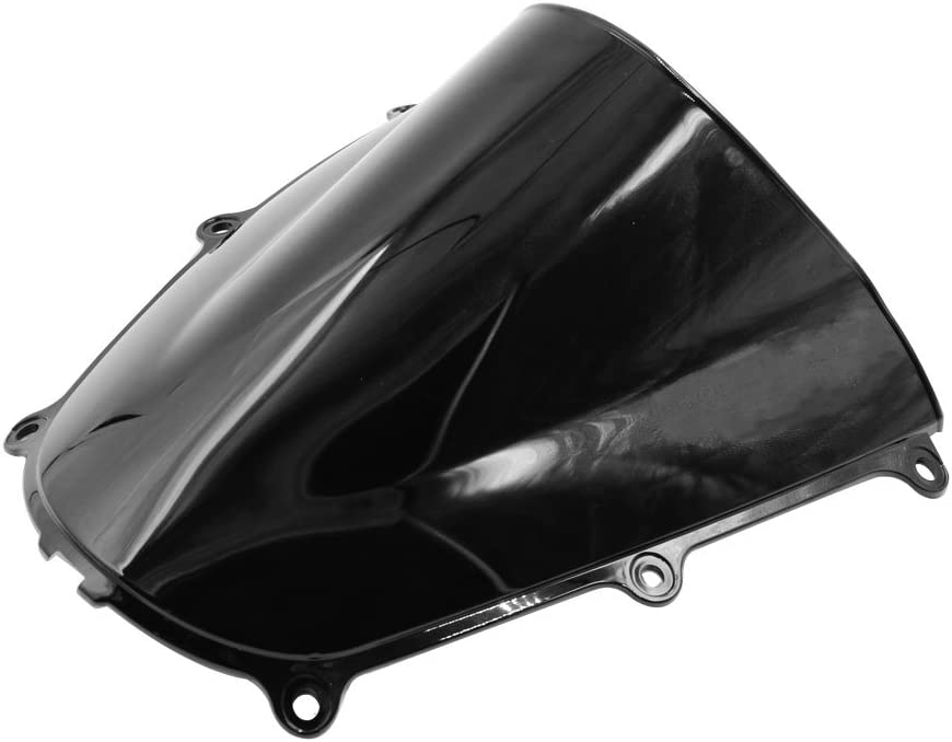 uxcell Black Smoke ABS Plastic Motorcycle Windshield for Honda CBR600RR 2005-2006