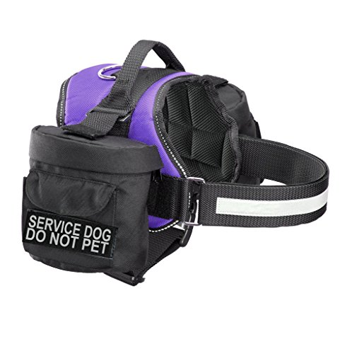 Service Dog Do Not Pet Harness with Removable Saddle Bag Backpack Harness Carrier Traveling. 2 Removable Service Dog DO NOT PET Removable Patches. Please Measure Dog Before Ordering.