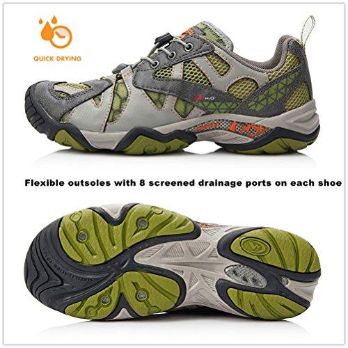 Clorts Frauen schnell trocknend Sport Wandern Wasser Schuh Amphibious Athletic Sneaker WT24A Grün