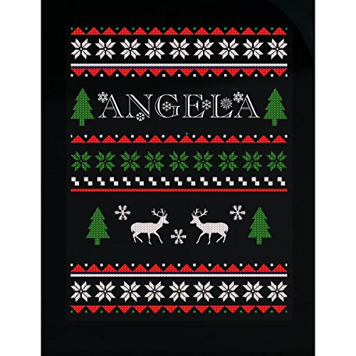 (Prints Express Ugly Christmas Sweater for Angela Great Funny Gift for The Holidays - Sticker )
