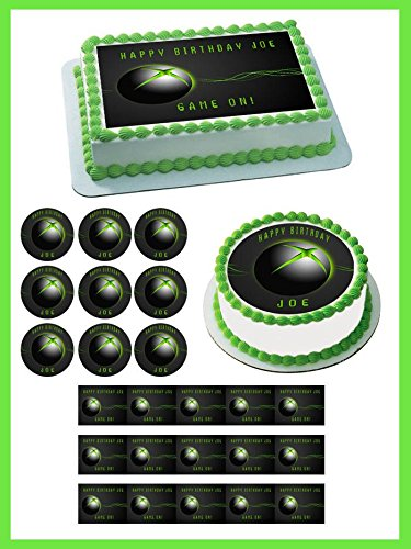 Video game systems Edible Cake Topper & Cupcake Toppers - 1.8