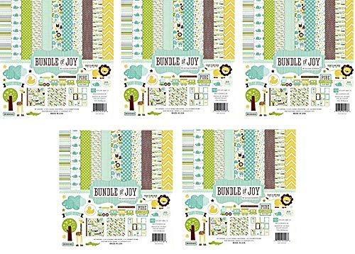 Echo Park Paper BJB46016 Bundle of Joy Boy Collection Scrapbooking Kit (Fivе Расk)