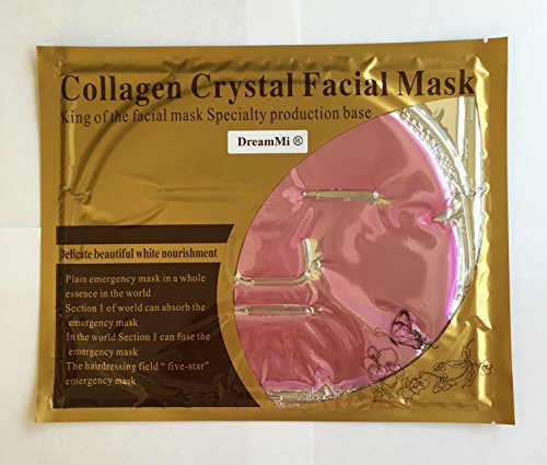 DreamMi 10 Pieces Red Wine Collagen Facial Mask, Moisture, By DreamMi - Red Wine Collagen Mask