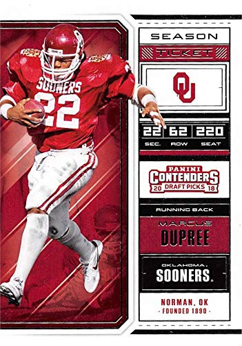 premium selection 28372 edfad Marcus Dupree football card (Oklahoma Sooners) 2018 Panini ...