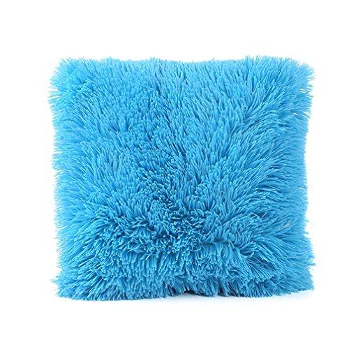 Super Soft Throw Pillow Case Cover Plush Freshzone Christmas Pillow Covers 16x16 Xmas Pillow Case Decorative Sky Blue