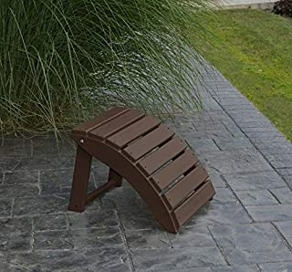 product image for Outdoor Poly Folding Ottoman - Poly Lumber - Amish Brown