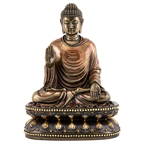 Top Collection Meditating Shakyamuni Buddha Statue Touching the Earth - The Enlightened One Sculpture in Premium Cold Cast Bronze- 9-Inch Supreme Buddha Figurine ()