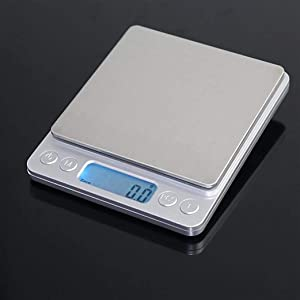 Food Kitchen Scale, Digital Pocket Scale, Mini Electronic Digital Balance Weight Smart Scale, 0.1g Precise Graduation, Auto Off, LCD Display with Back-Light, Food Scale, Jewelry Scale (Silver)