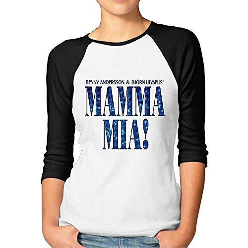 (Mamma Mia Meryl Streep Raglan Sleeve Women Half Sleeve Tshirt Casualeaseful)