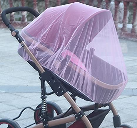 Mosquito Net for Baby, Newborn Toddler Infant Baby Stroller Crip Netting Pushchair Mosquito Insect Net Safe Mesh Buggy (Purple) LLY