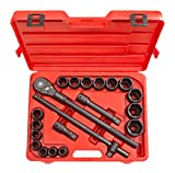 (US) TEKTON 3/4-Inch Drive Impact Socket Set, Inch, Cr-V, 6-Point, 3/4-Inch - 2-Inch, 21-Piece | 4899