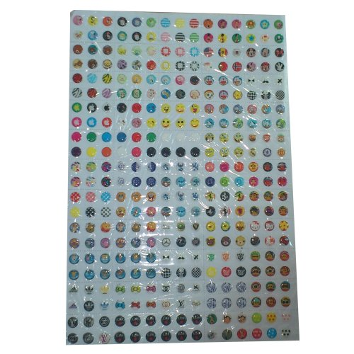 Cheap Cases 330pcs Sweety Home Button Sticker for iPhone4/4s/5 iPad (random figure shape)