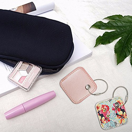for Tile Mate - Key Finder. Phone Finder. Anything Finder. Tile Mate Case Cover with Keychain. Tile Mate Skin PU Leather Protection - Pink2 by PAIYULE (Image #5)