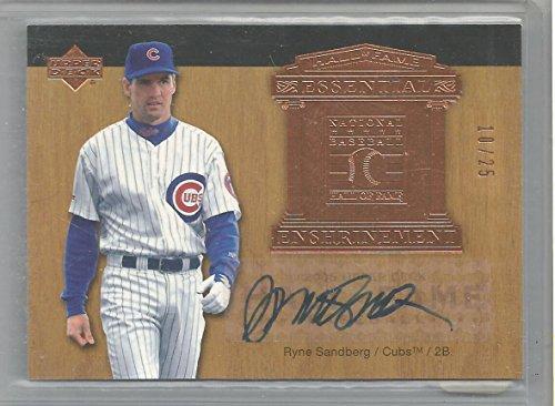 (2005 UD Hall Of Fame Baseball Ryne Sandberg Essential Enshrinement Auto # 10/25 )