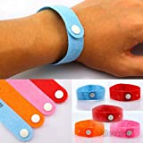 [5 PACKS] Alientech® Pure Natural Mosquito Bug Repellent Wrist Band Bracelet Pest Insect Bug Repeller Non-Toxic Deet Free Green for Kids Adults (The Color at random)